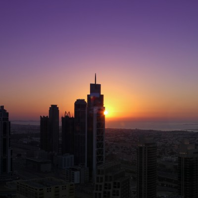 Sunset from Burj Khalifa Spa Area