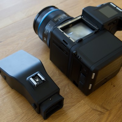 Phase One XF 100MP Prism Viewfinder taken off